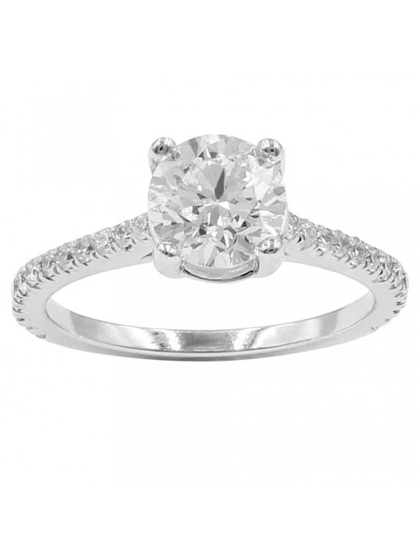 3/4 Eternity Solitare Diamond Ring