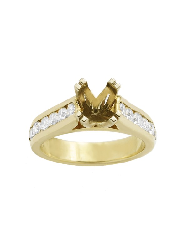 Channel Set Diamond Engagement Mounting