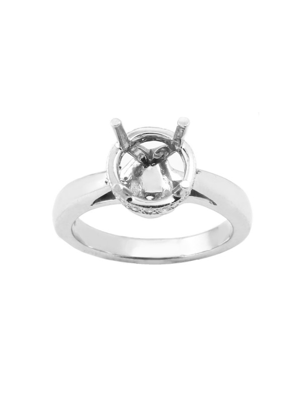 Round Halo Diamond Engagement Mounting