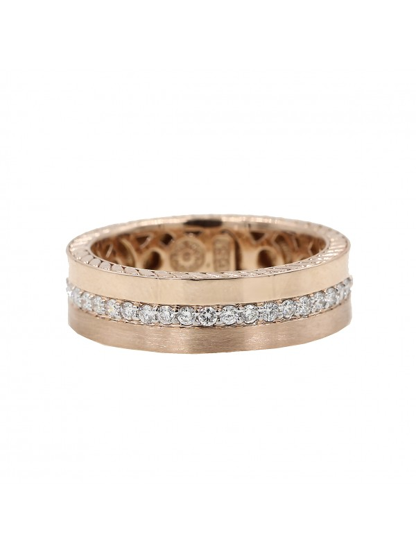 Men Rose Gold and Diamond Band