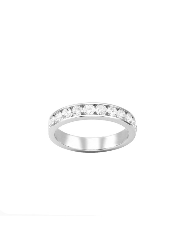 Half Eternity Channel Set Band in 14K White Gold