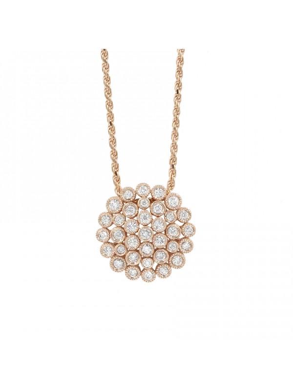 Diamond Circle Charm Necklace