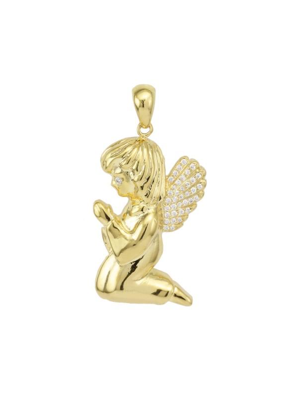 Angel Charm 14K Yellow Gold
