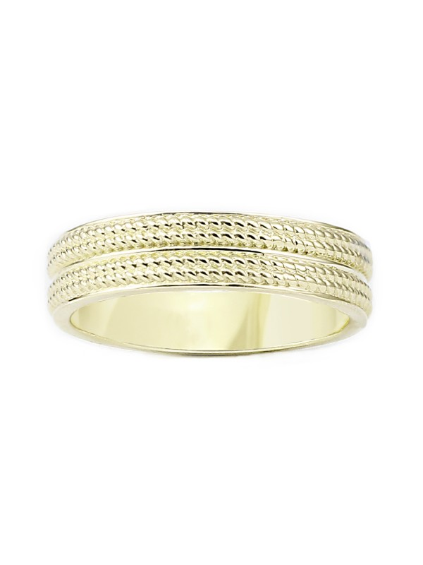 Milgrain Inlay Band in 14K Yellow Gold