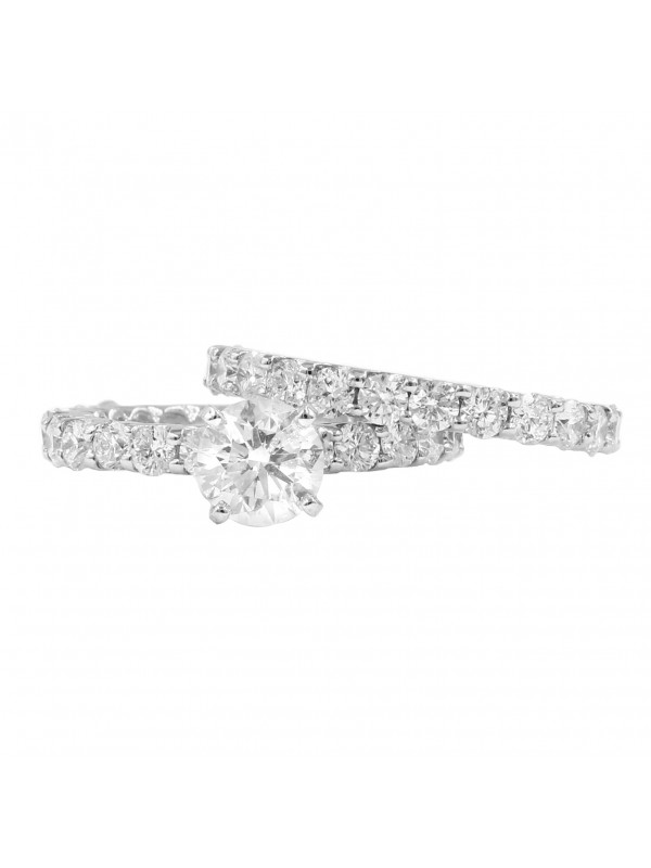 3/4 Eternity Diamond Wedding Set
