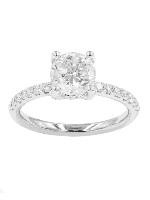 Half Eternity Solitaire Ring