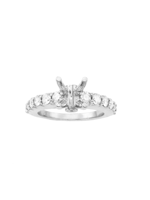 Shared Prong Wedding Set Mounting