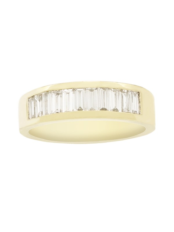 Channel Set Diamond Ring in 14K Yellow Gold