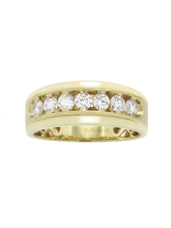 Channel Set Diamond Ring in 18K Yellow Gold