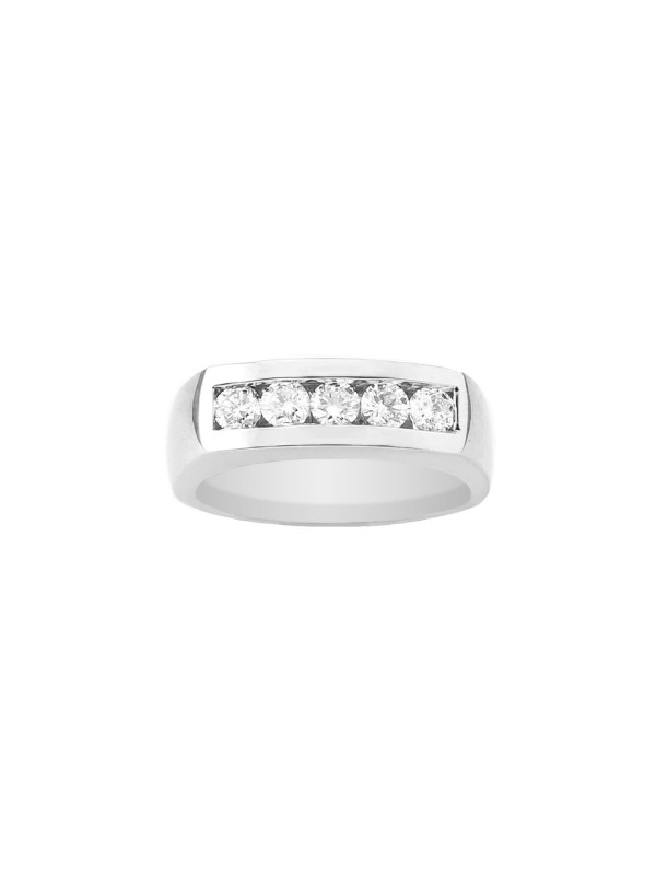 Square Shank Channel Set Diamond Ring