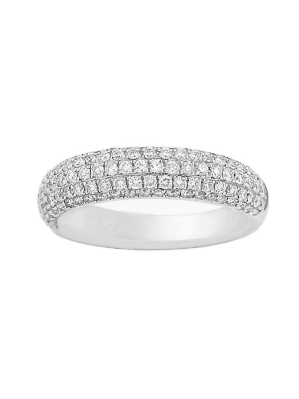 Pave Set Half Eternity Diamond Band