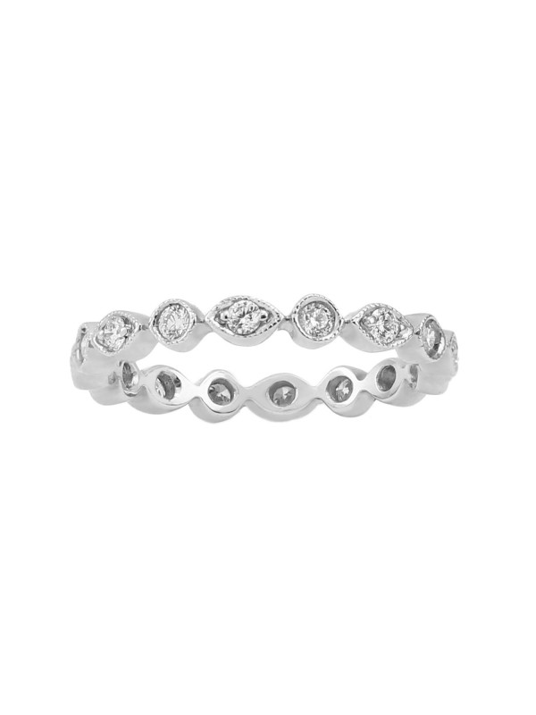 Round and Marquise Style Diamond Band