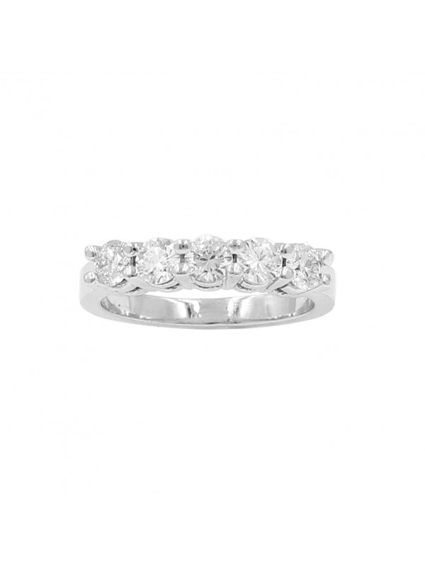 5 Stone Prong Set Band