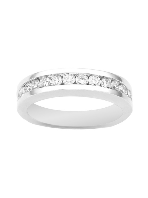 Tapered ¾ Eternity Diamond Band in 14K White Gold
