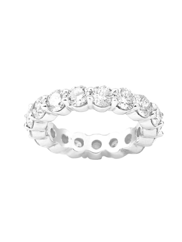 Eternity Shared Prong Diamond Band in 14K White Gold