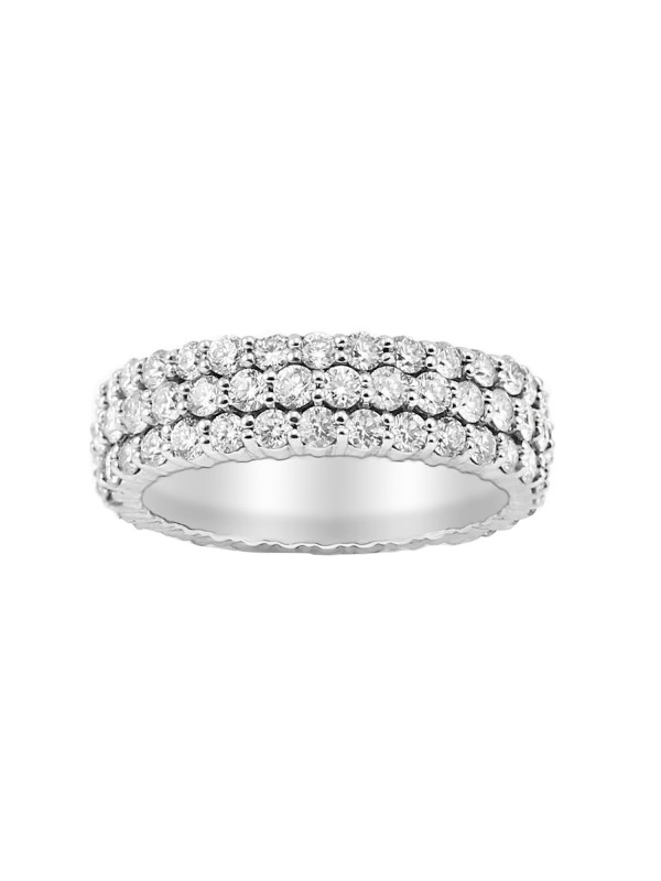 Shared Prong Eternity Diamond Ring in 14K White Gold