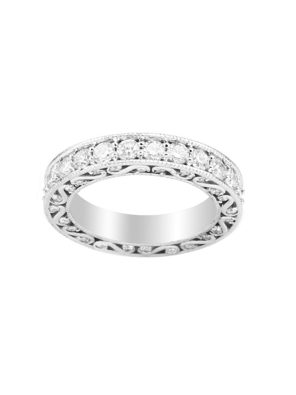 Eternity Diamond Band in 14K White Gold