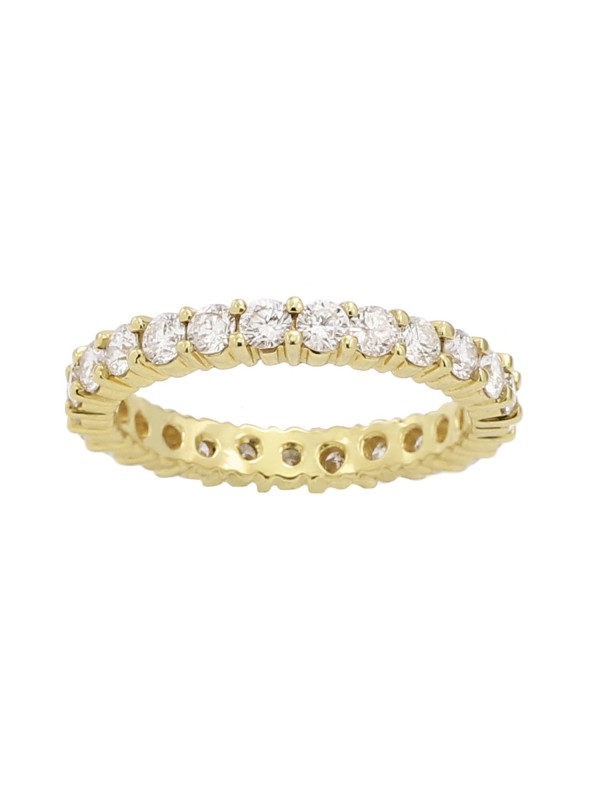 Eternity Diamond Band in 14K Yellow Gold