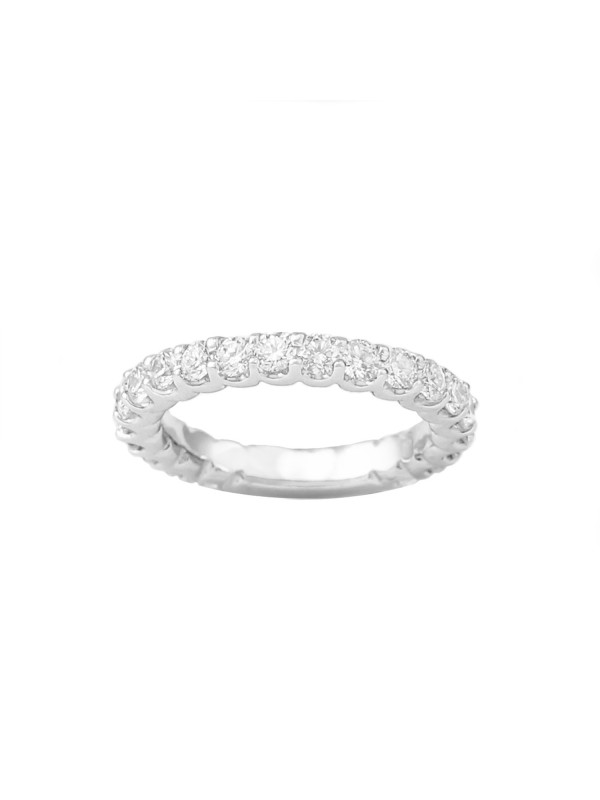 ¾ Eternity U-Prong Diamond Band in 14K White Gold