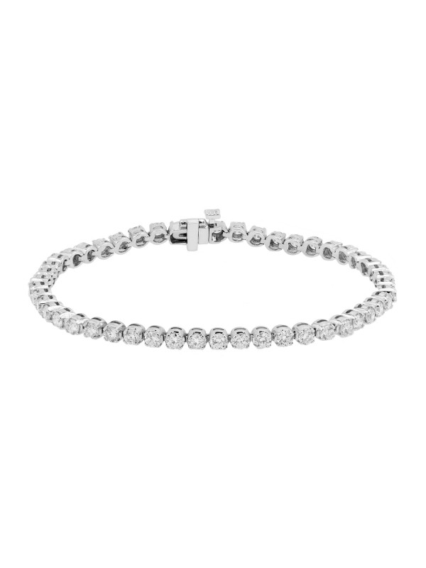 Round 4 Prong Set Diamond Tennis Bracelet 14K White Gold