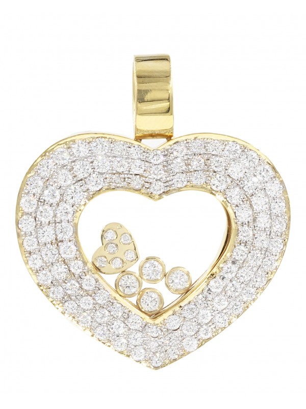 Heart Diamond Charm