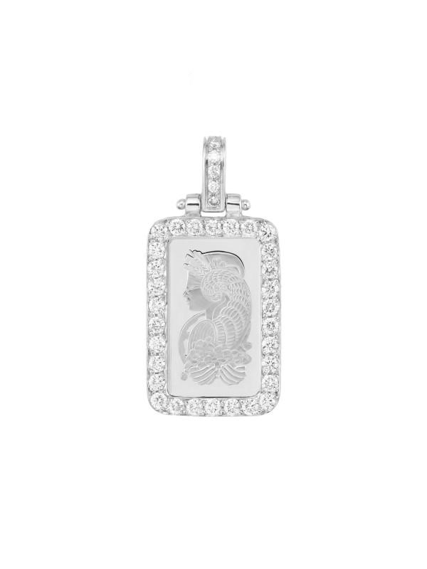 Diamond 5g White Platinum Bar