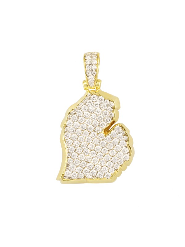 Mitten Diamond Pendant 14K Yellow Gold